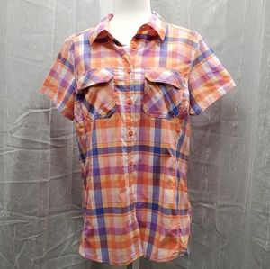 Columbia button down plaid shirt
